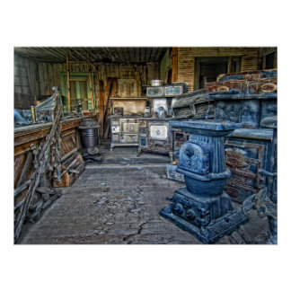 GHOST TOWN STOVE STORAGE POSTERS