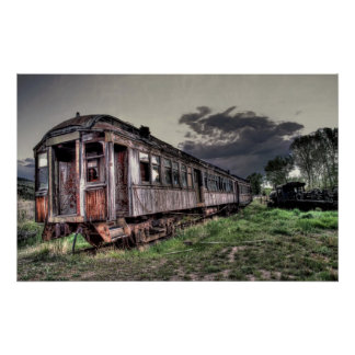 Ghost Town Train - Montana Poster