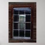Ghost town window print