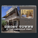 """Ghost Towns of the American West Calendar<br><div class=""""desc"""">The remains of once thriving towns of the West, often quickly built after the discovery of gold or silver, became thriving communities, even if for only a short time. This calendar contains photographs of some of these photogenic beauties, as they return slowly back to the earth from which they came....</div>"""