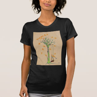 Ghost tree and empty swing in the fall tee shirt