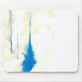Ghost Trees Blue Mouse Pad