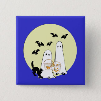 ghost  Trick or Treat Button