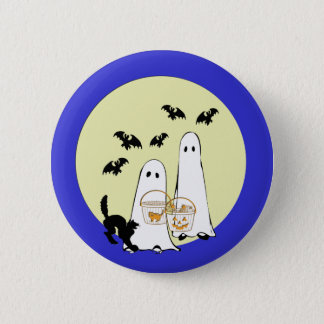 ghost  Trick or Treat Pinback Button
