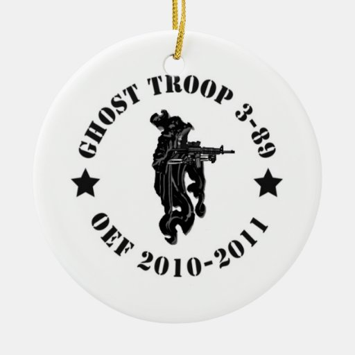Ghost Troop Double-Sided Ceramic Round Christmas Ornament