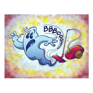 Ghost Vacuum Cleaner Nightmare Postcard