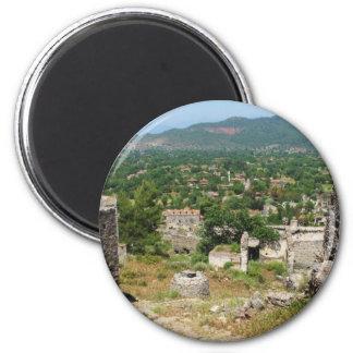 Ghost village - Kayakoy 2 Inch Round Magnet