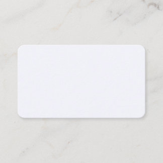 Ghost White Rounded Business Card