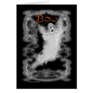 Ghost White Scroll Border Card