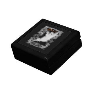 Ghost White Scroll Border Keepsake Box