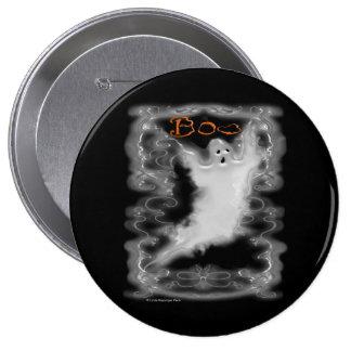 Ghost White Scroll Border Pinback Button