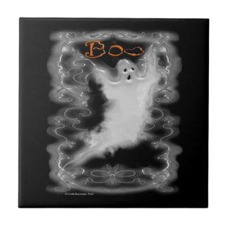 Ghost White Scroll Border Tile