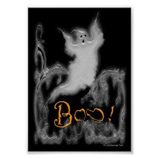 Ghost White Scrolls Poster