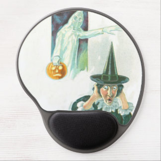 Ghost Witch Jack O Lantern Gel Mouse Pad