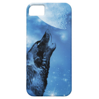 Ghost wolf howling at the moon iPhone 5 cover
