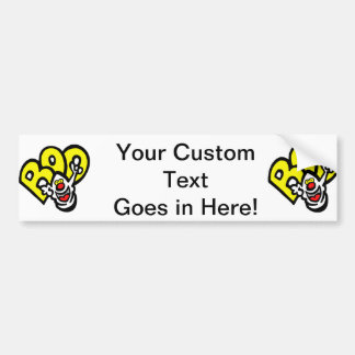 Ghost yellow BOO graphic Bumper Stickers