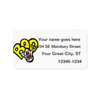Ghost yellow BOO graphic Address Label