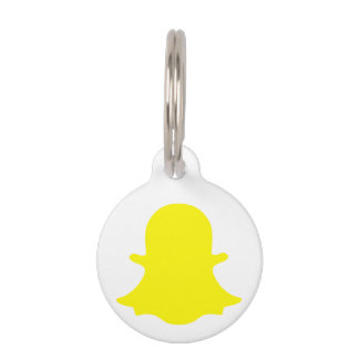 Ghost - Yellow Pet Name Tag