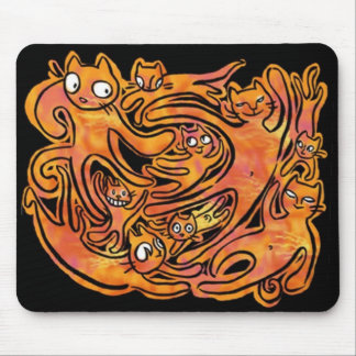 ghostcatsdancing mouse pad