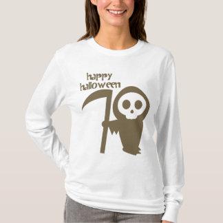 Ghostface with Scythe Happy Halloween T-Shirt