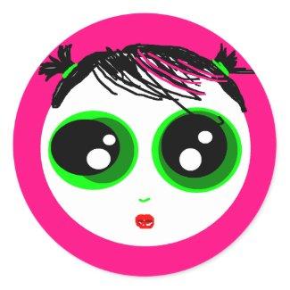 Ghostie Girl Sticker (Hot Pink) sticker