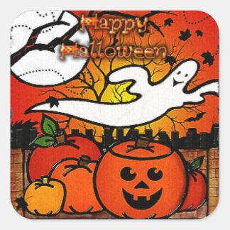 Ghostie Halloween caprichoso Pegatina Cuadrada