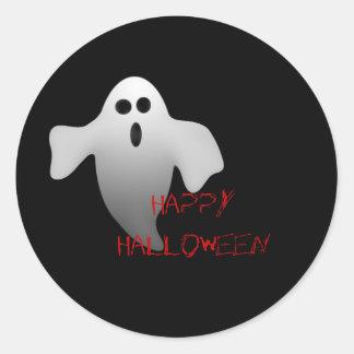 ghostie, HappyHalloween Round Sticker