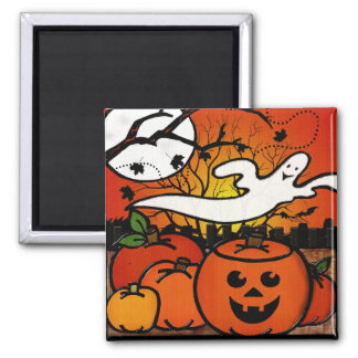 Ghostie Whimsical Halloween 2 Inch Square Magnet