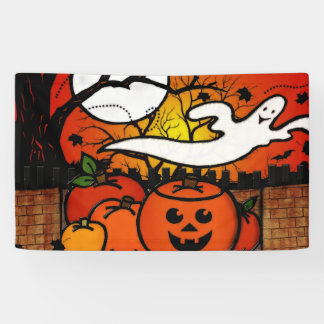 Ghostie Whimsical Halloween Banner