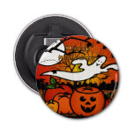 Ghostie Whimsical Halloween FAVORS Button Bottle Opener