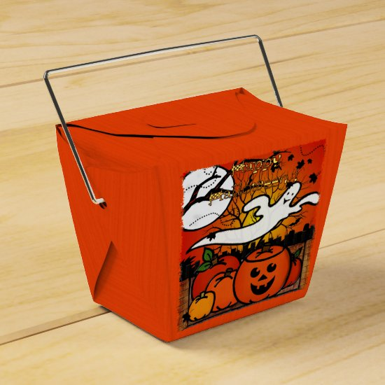 Ghostie Whimsical Halloween TRICK OR TREAT PARTY Favor Box