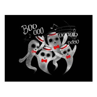 Ghostly Barber Shop Quartet Postcard
