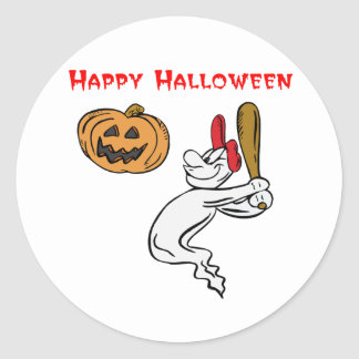 Ghostly Batter Classic Round Sticker