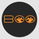 Ghostly Boo Halloween Stickers, Black and Orange