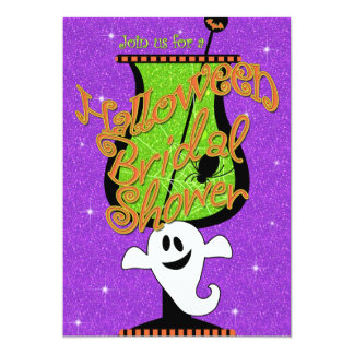 Ghostly Brew Halloween Bridal Shower Invitation