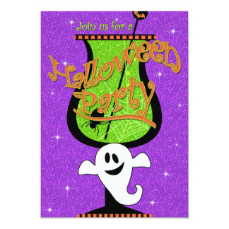 Ghostly Brew Halloween Party Invitation