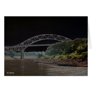 Ghostly Bridge--thank you Greeting Card
