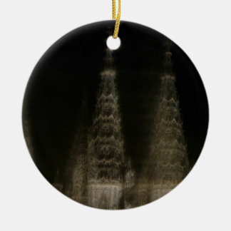 Ghostly cathedral ornament