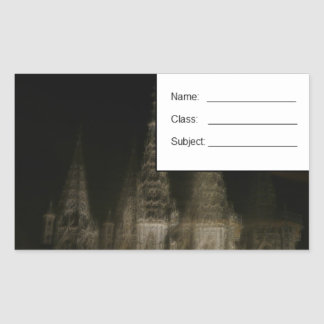 Ghostly cathedral sticker