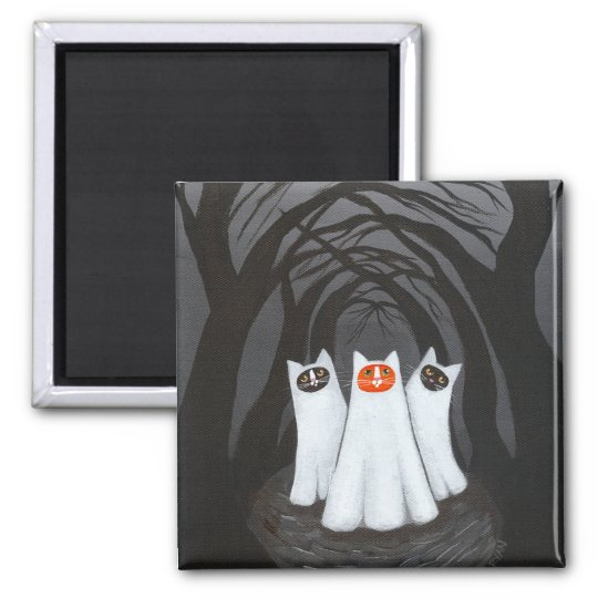 Ghostly Cats Magnet