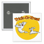 Ghostly Dog & Big Ghost Pinback Buttons