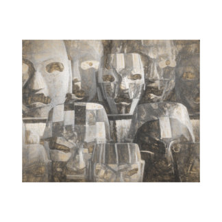 Ghostly faces canvas print