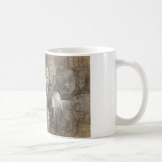Ghostly faces coffee mug