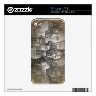 Ghostly faces decal for the iPhone 4