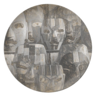 Ghostly faces plate