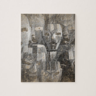 Ghostly faces jigsaw puzzle