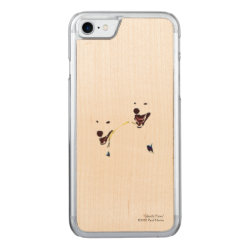 Carved Apple iPhone 7 Wood Case with Samoyed Phone Cases design