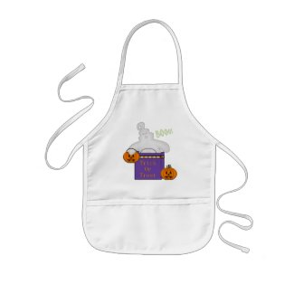 Ghostly Gift Halloween Apron