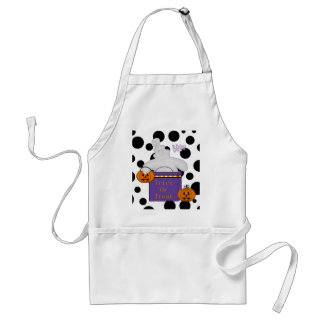 Ghostly Gift Halloween On Polka Dots Apron
