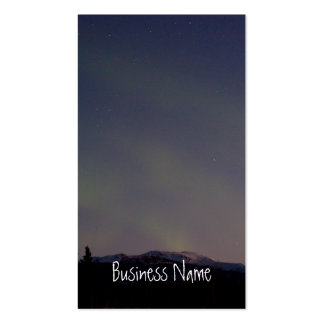 Ghostly Glow Promotional Business Card Template